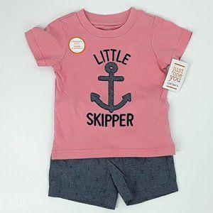 NWT CARTER'S Boys Little Skipper Shorts Set 12M